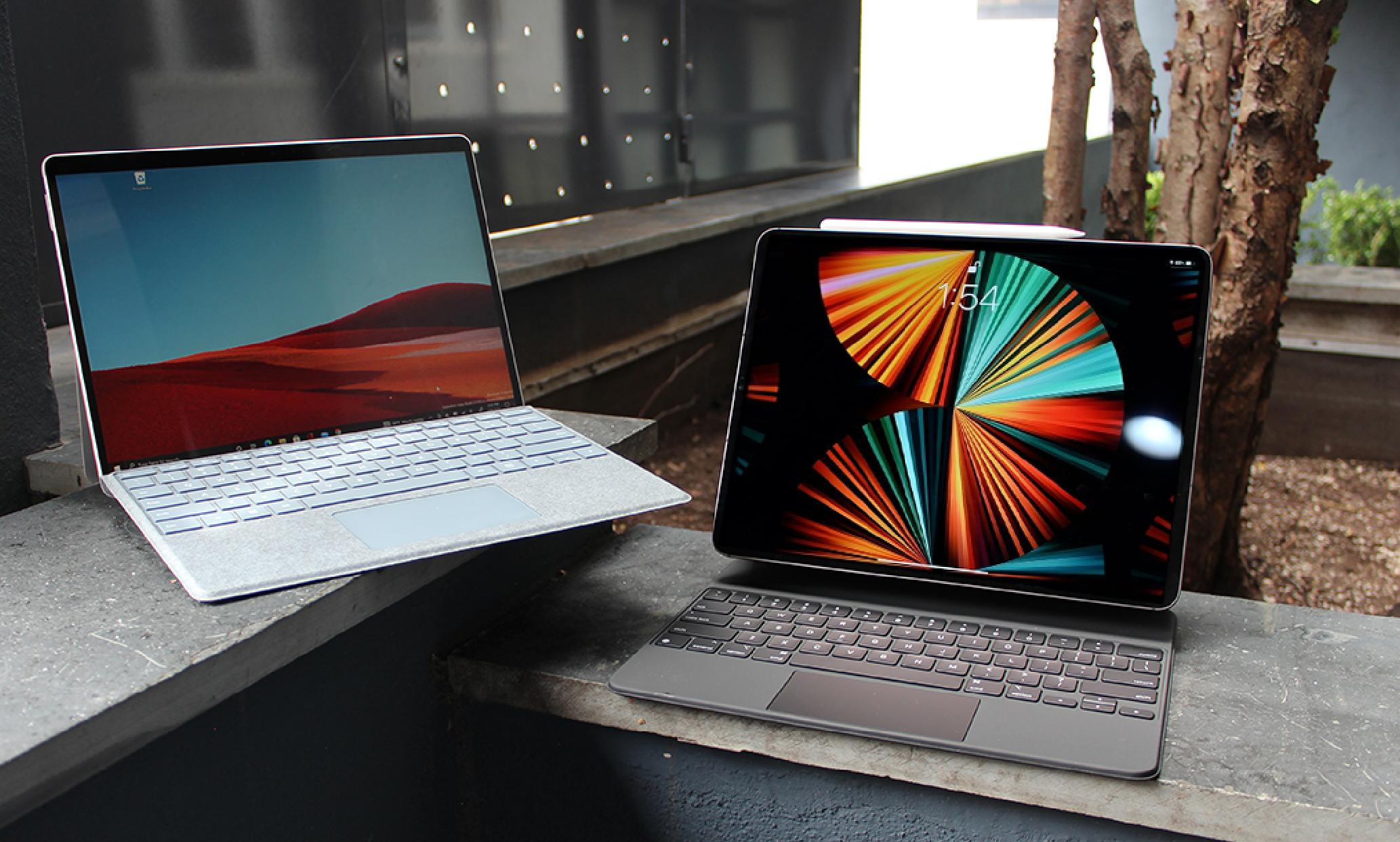 王者与霸者的对抗!苹果iPad Pro M1 VS 微软Surface Pro X,您看好谁?