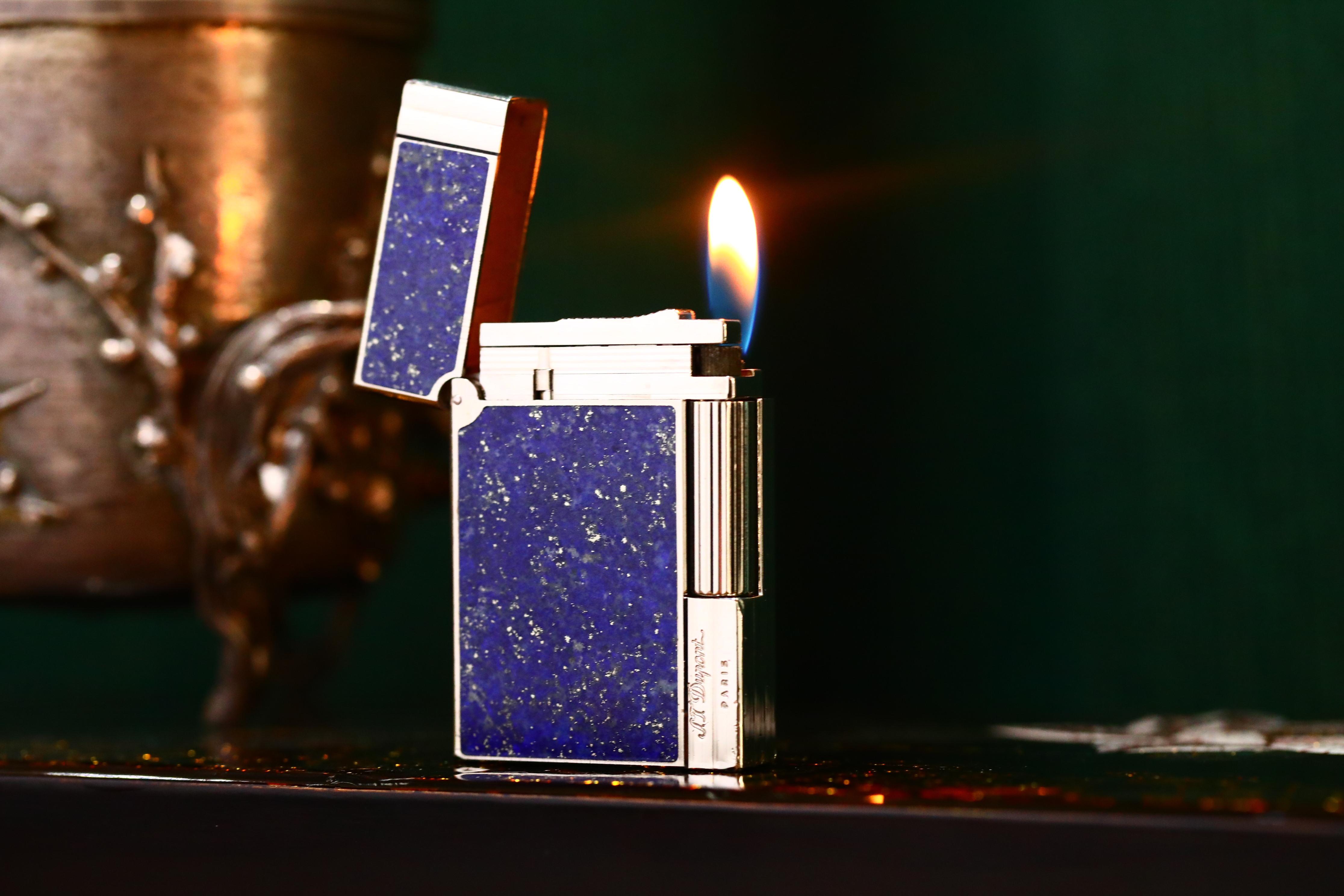 都彭盖茨比系列气体打火机青金石镶嵌,饱含深意只为赠予你