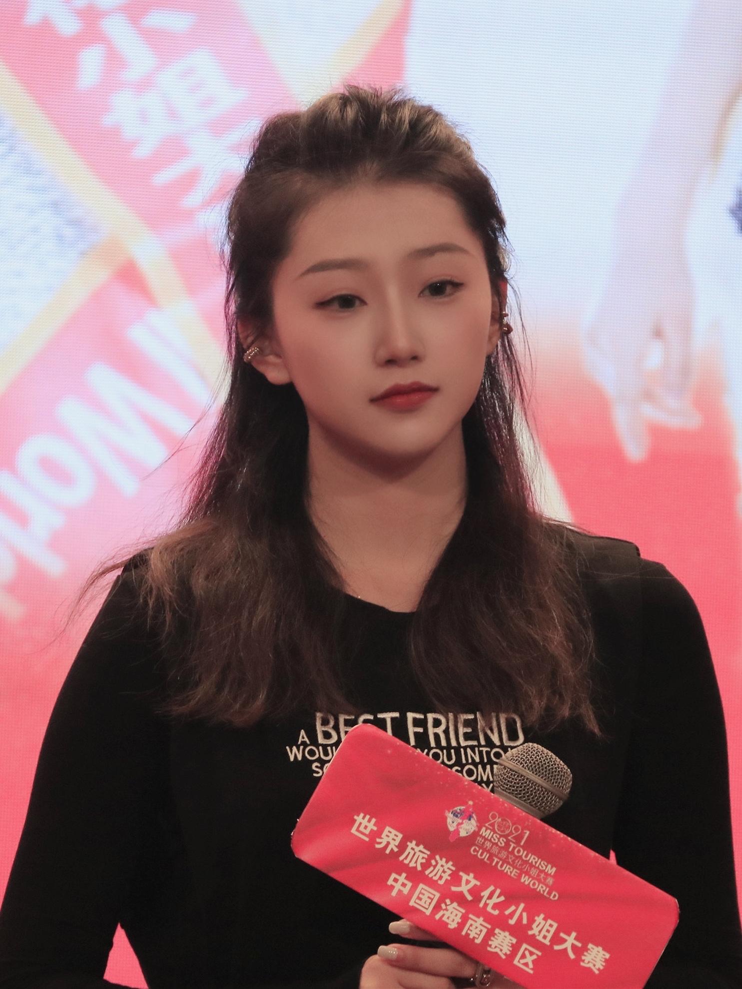 2021世界旅游文化小姐大赛海南三亚高校赛区海选在三亚理工职业学院热力开赛